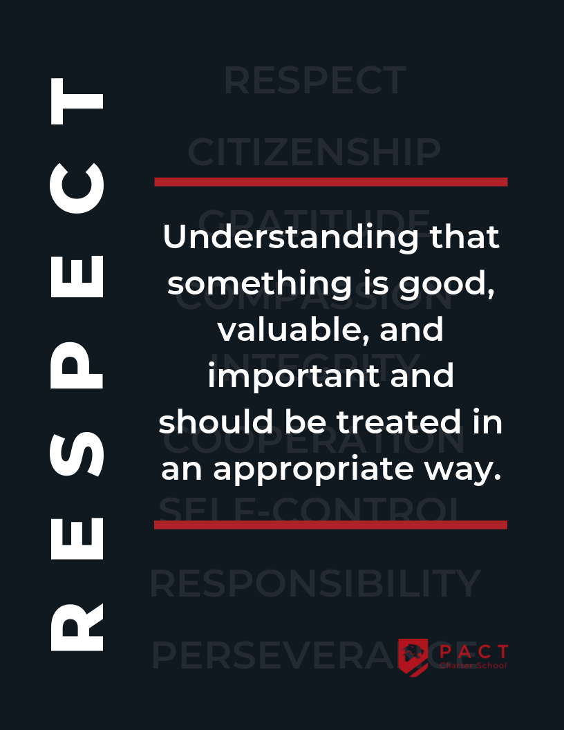 Image - Respect: Understanding that something is good, valuable, and important and should be treated in an appropriate way.